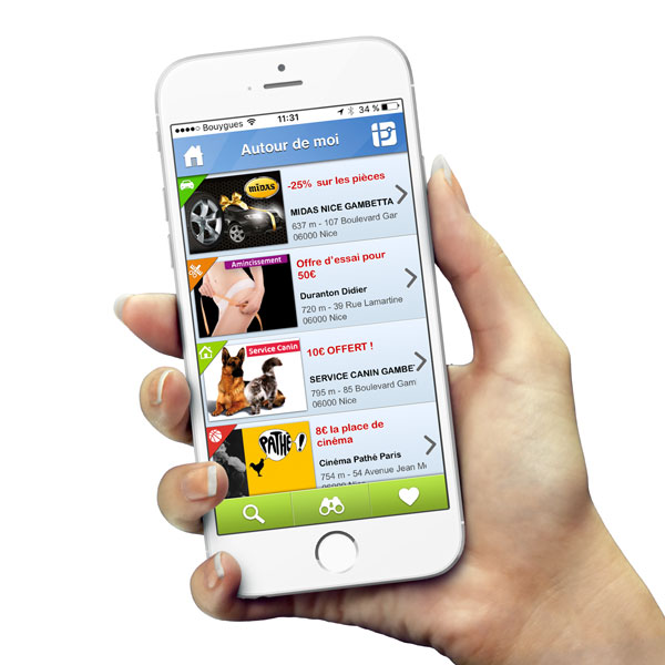 Application de coupon mobilea
