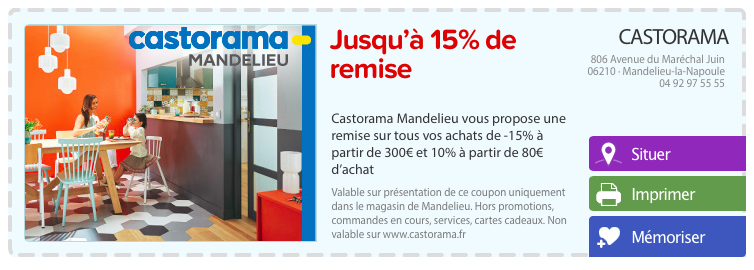 Coupon Castorama Coupons De Reduction Castorama Reductions A Imprimer Castorama Avec Olapromo Specialiste Du Bon De Reduction
